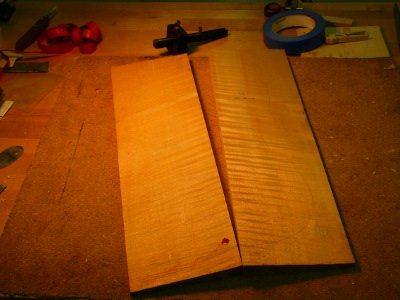 Bosnian maple for the back